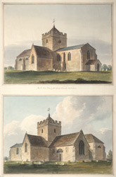 North West View of Bridford Church, Wiltshire
